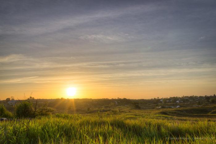 Golden Sunset over White Sand Country