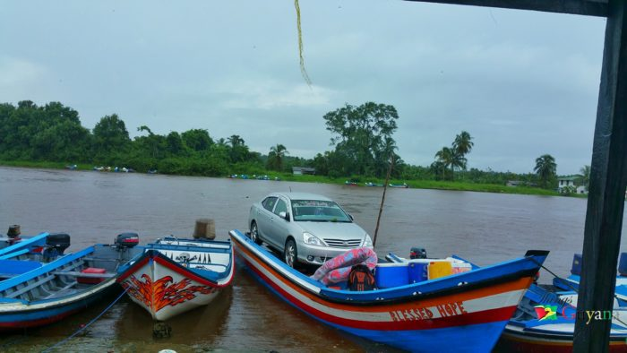 Only In Guyana We Bad Like This – Transporting A Car In A Speed Boat